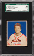 Baseball Cards:Singles (1940-1949), 1949 Bowman Terry Moore #174 SGC 96 Mint 9 - Pop One, Highest SGCon Record! ...