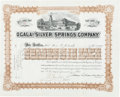 Autographs:Military Figures, Joshua Lawrence Chamberlain Stock Certificate Signed...