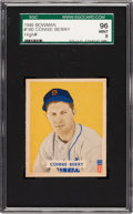Baseball Cards:Singles (1940-1949), 1949 Bowman Connie Berry #180 SGC 96 Mint 9 - Pop One, SGC Finest!...