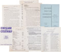 Miscellaneous:Ephemera, Southern Christian Leadership Conference Archive... (Total: 11 )