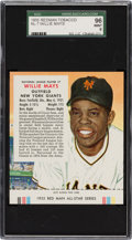 Baseball Cards:Singles (1950-1959), 1955 Red Man Willie Mays #7N SGC 96 Mint 9 - Pop One, None Higher! ...