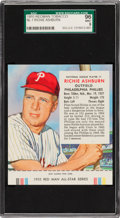 Baseball Cards:Singles (1950-1959), 1955 Red Man Tobacco Richie Ashburn #1 SGC 96 Mint 9 - Pop Two,None Higher! ...