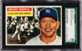 Baseball Cards:Singles (1950-1959), 1956 Topps Mickey Mantle #135 SGC 96 Mint 9 - None Higher. ...