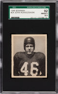 Football Cards:Singles (Pre-1950), 1948 Bowman John Koniszewski #24 SGC 92 NM/MT+ 8.5 - Pop One,Single Highest SGC Example! ...