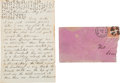 Autographs:U.S. Presidents, [Abraham Lincoln]. Lincoln Assassination Letter,... (Total: 2Items)