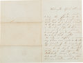 Autographs:U.S. Presidents, [Abraham Lincoln]. Lincoln Assassination Letter,...