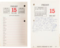 Miscellaneous:Ephemera, [Martin Luther King, Jr.]. The Montgomery Improvement AssociationDesk Calendar for the Year 1957....