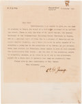 Autographs:Celebrities, Carl Jung Typed Letter Signed...