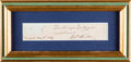 Autographs:Inventors, Robert Fulton Clipped Signature....