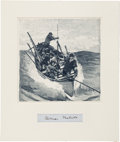 Autographs:Authors, Herman Melville Signature,...