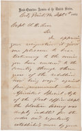 Autographs:U.S. Presidents, [Orlando H. Ross] and [Civil War]. Ulysses S. Grant AutographLetter Signed...
