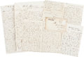Autographs:U.S. Presidents, [Abraham Lincoln]. Four Lincoln Assassination Letters... (Total: 4 Items)