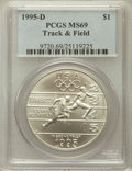 Modern Issues: , 1995-D $1 Olympic/Track & Field Silver Dollar MS69 PCGS. PCGSPopulation (957/154). NGC Census: (524/230). Numismedia Wsl....