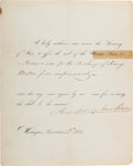 Autographs:U.S. Presidents, Andrew Jackson Affix the Seal Signed....