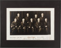 Autographs:Statesmen, Charles E. Hughes Supreme Court Photo Signed by All NineJustices....