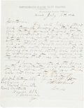 Autographs:Military Figures, [CSS Georgia]. Thomas William Brent Letter Signed....