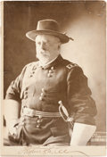 "Autographs:Military Figures, Fitzhugh Lee Cabinet Card Signed ""Fitzhugh Lee.""..."