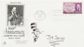 "Autographs:Authors, Theodor Seuss Geisel ""Dr. Seuss"" First Day Cover With Original Cat in the Hat Sketch and Signed ""Dr. Seuss.""..."