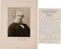 "Autographs:Inventors, Joseph Lister (1st Baron Lister) Manuscript Document Signed ""Joseph Lister.""..."