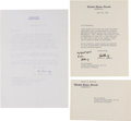 Autographs:Statesmen, Robert F. Kennedy and Rose Kennedy Typed Letters Signed.... (Total:3 Items)