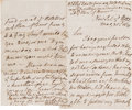 "Autographs:Statesmen, William Wilberforce Autograph Letter Signed ""W.Wilberforce.""..."