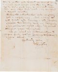 "Autographs:Celebrities, David Livingstone Partial Autograph Letter Signed ""D. Livingstone.""..."