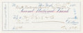 "Autographs:Artists, Thomas Nast Bank Check Signed ""Th. Nast.""..."