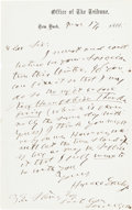 "Autographs:Celebrities, Horace Greeley Autograph Letter Signed ""Horace Greeley.""..."