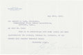 "Autographs:Inventors, George W. Eastman Typed Letter Signed ""Geo Eastman.""..."