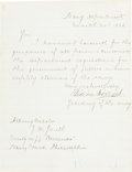 "Autographs:Statesmen, Gideon Welles Letter Signed as Secretary of the Navy ""Gideon Welles.""..."