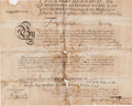 Autographs, Sir Francis Bernard Signed Military Appointment. ...