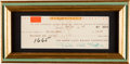 Autographs:Artists, . Frank Lloyd Wright Signed Check....