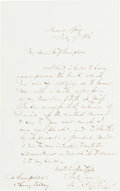 """Autographs:Military Figures, Matthew C. Perry Autograph Letter Signed """"M. C. Perry."""" ..."""