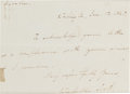 Autographs:Military Figures, General Winfield Scott Autographed Letter Signed. ...