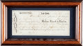 Autographs:Military Figures, Richard Waterhouse Document Signed ...