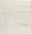 Autographs:Military Figures, General William Whipple Document Signed....