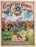 "Miscellaneous:Booklets, ""Custer's Last Charge,"" Sheet Music, circa 1922...."