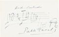 "Autographs:Celebrities, Pablo Casals Autograph Musical Quote Signed ""PabloCasals.""..."