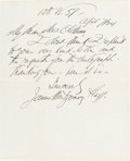"Autographs:Artists, James Montgomery Flagg Autograph Letter Signed ""James MontgomeryFlagg.""..."