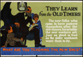 "Movie Posters:Miscellaneous, They Learn from the Old Timers (Mather and Company, 1923). Motivational Poster (28"" X 41.5""). Miscellaneous.. ..."