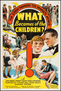 "Movie Posters:Exploitation, What Becomes of the Children? (Puritan, 1936). One Sheet (27"" X41""). Exploitation.. ..."