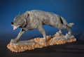 Lapidary Art:Carvings, Jasper Wolf Carving . Artist Unknown. ...
