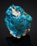 Minerals:Miniature, CALEDONITE. Mammoth-Saint Anthony Mine, St. Anthony Deposit,Tiger, Mammoth District, Pinal Co., Arizona, USA. ...