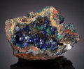 Minerals:Cabinet Specimens, AZURITE. Czar Mine? (Czar Shaft), Bisbee, Warren District, MuleMountains, Cochise Co., Arizona, USA. ...