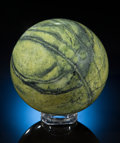 Lapidary Art:Eggs and Spheres, SERPENTINE SPHERE. Locality Unknown. ...