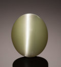 Gems:Cabochons, RARE GEMSTONE: CHRYSOBERYL CAT'S EYE - 12.12 CT.. Orissa,India. ...