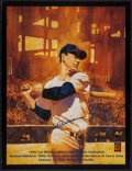 Baseball Collectibles:Others, Ted Williams Signed Oversized Print....