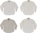 Baseball Collectibles:Others, Circa 1990 Stan Musial Worn Dress Shirts Lot of 4....