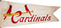 Baseball Collectibles:Others, Circa 1950 St. Louis Cardinals Ballpark Flown Flag Owned by StanMusial....