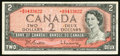 Canadian Currency: , BC-38bA $2 1954 Replacement Note. ...